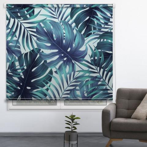 Estor personalizado Tropical Azul