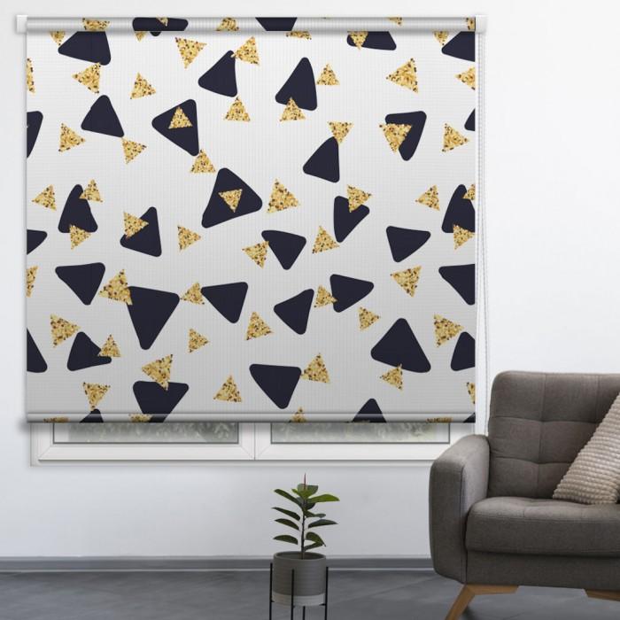 Estor personalizado Triangulos dorados