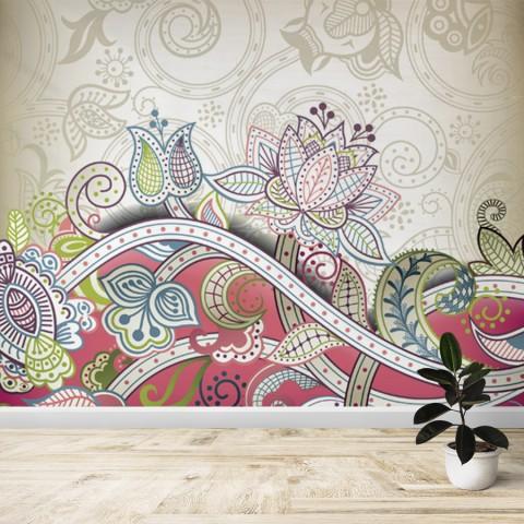 Fotomural - Flores abtractas