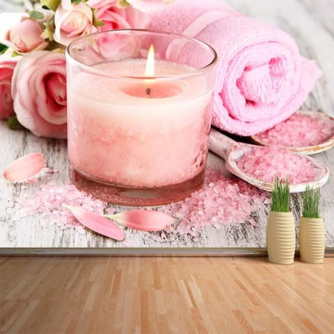 Fotomural - Spa rosa