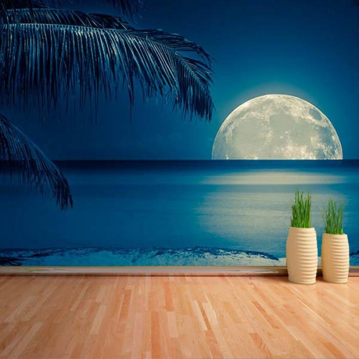 Fotomural - Luna en la playa