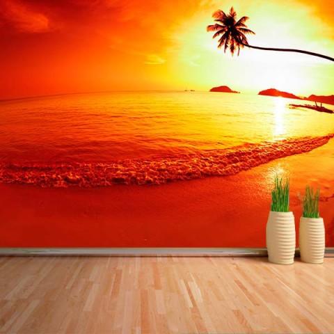 Fotomural - Ocaso en la Playa