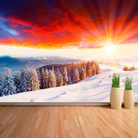 Fotomural - Atardecer Invierno
