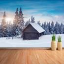 Fotomural - Cabaña en la nieve