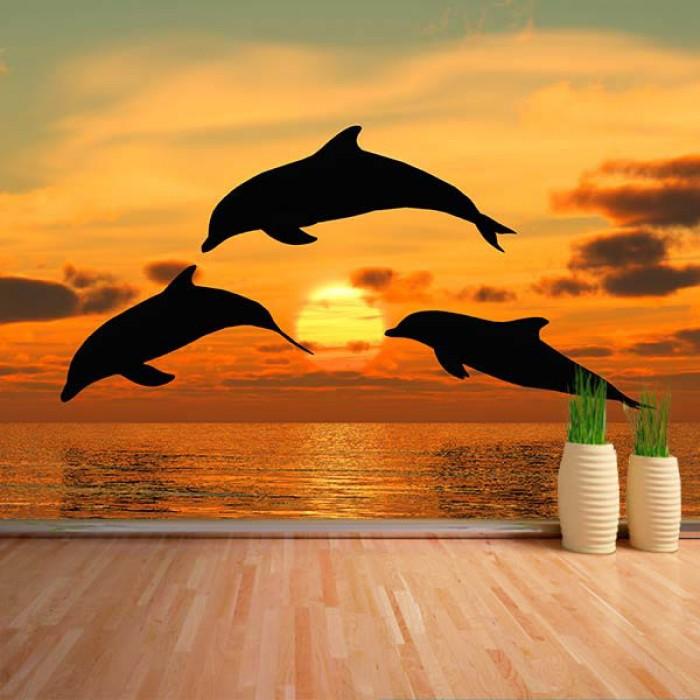 Fotomural - Delfines