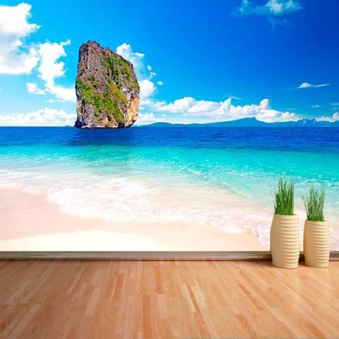 Fotomural - Roca en el mar