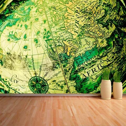 Fotomural - Globo terraqueo verde