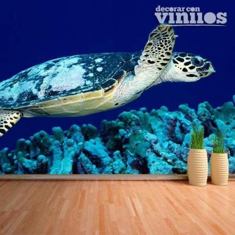Fotomural - Tortuga de Mar Azul