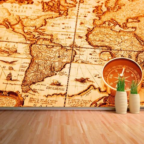 Fotomural - Mapa y brujula 2