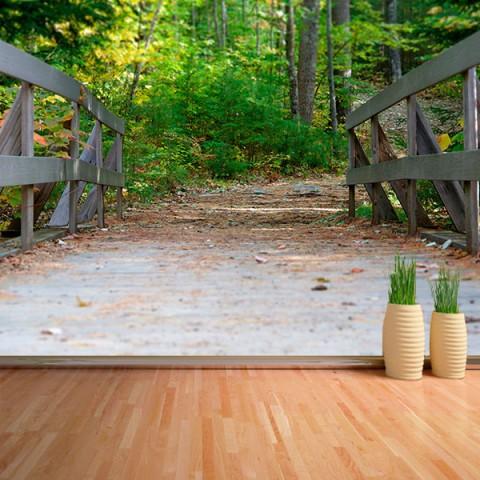Fotomural - Puente en el bosque