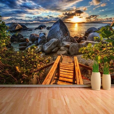 Fotomural - Escalera al mar