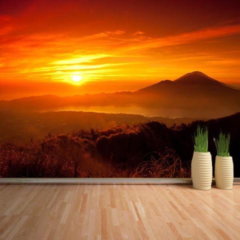 Fotomural - Amanecer en las montañas