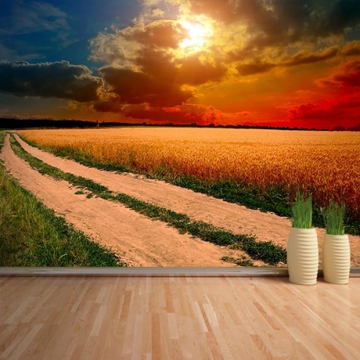 Fotomural - Amanecer en el camino