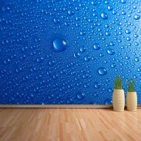 Fotomural - Gotas azules