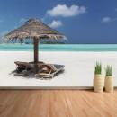 Fotomural - Relax en la playa de Maldivas