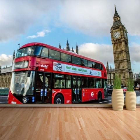 Fotomural - Bus en londres