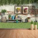 Fotomural - Patio con flores y plantas