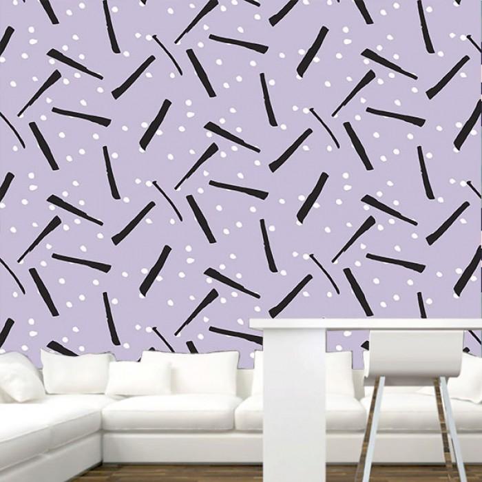 Fotomural - Confetti lila