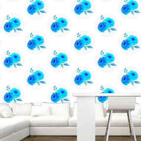 Fotomural - Flores Azules patron