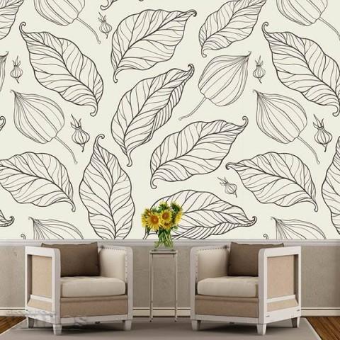 Fotomural - Silueta de hojas