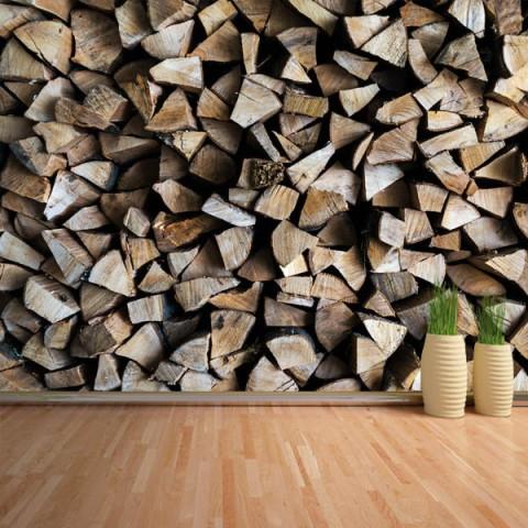 Fotomural - Troncos madera 2