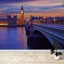 Fotomural - Big Ben en Londres y río tamesis
