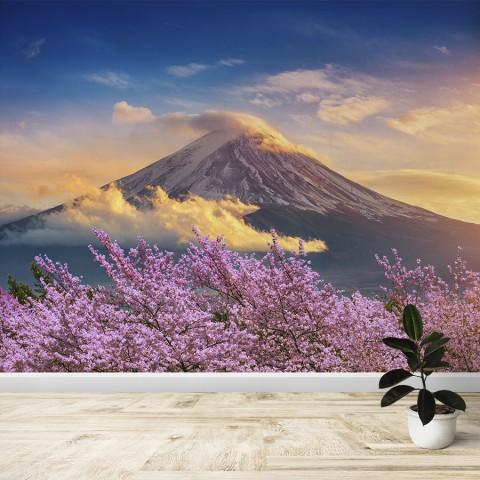 Fotomural - Monte Fuji y cerezos