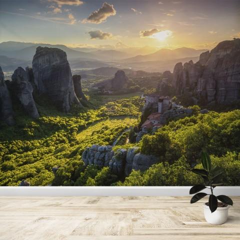Fotomural - Atardecer en Meteora
