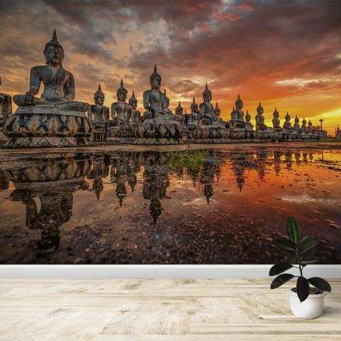 Fotomural - Budas en Tailandia