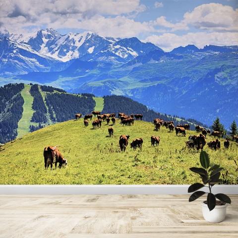 Fotomural - Vacas en el los aples