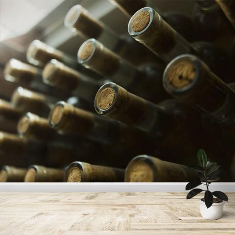 Fotomural - Botellas de vino