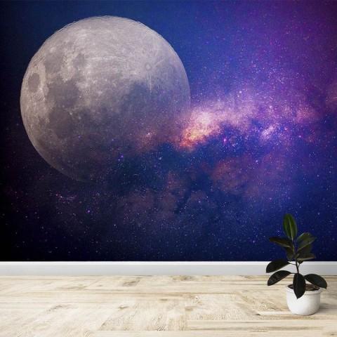 Fotomural - Luna Via Lactea