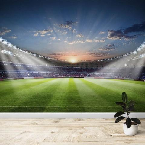 Fotomural - Campo Futbol Atardecer