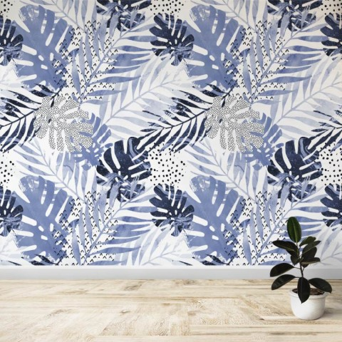 Mural - Blue Tropical