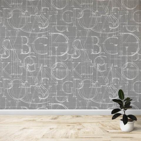 Mural - Letras gris oscuro