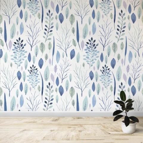 Mural - Hojas azules