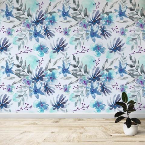 Mural - Flores azules