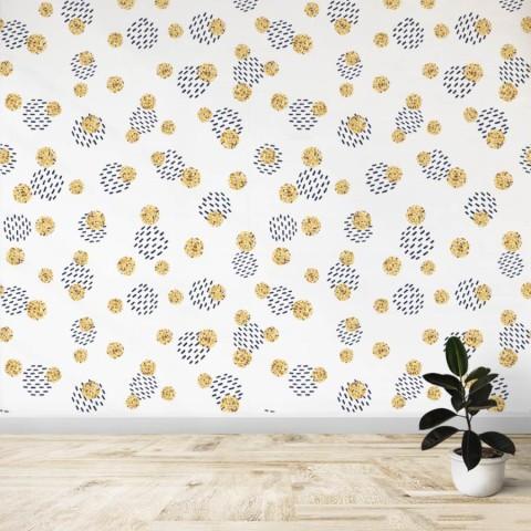 Mural - Circulos negro amarillo