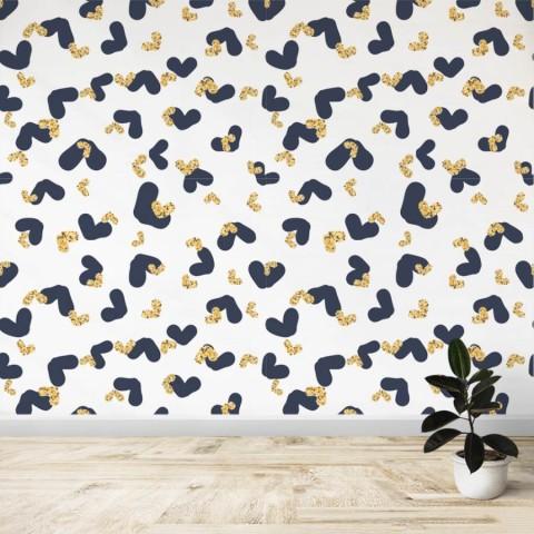 Mural - Corazones negro y amarillo