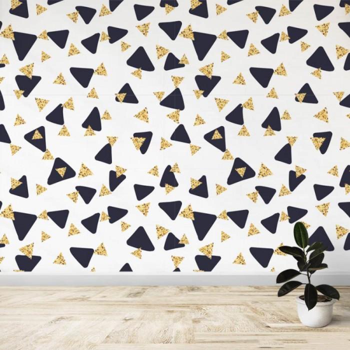 Fotomural - Triangulos amarillo y negro