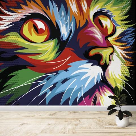 Fotomural - Gato Colores