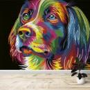 Fotomural - Perro Colores