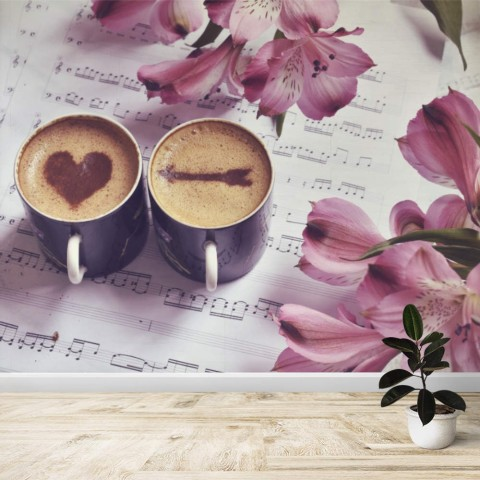 Fotomural - Cafe con amor
