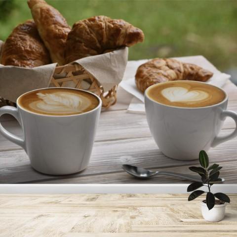 Fotomural - Cafe con Cruasán