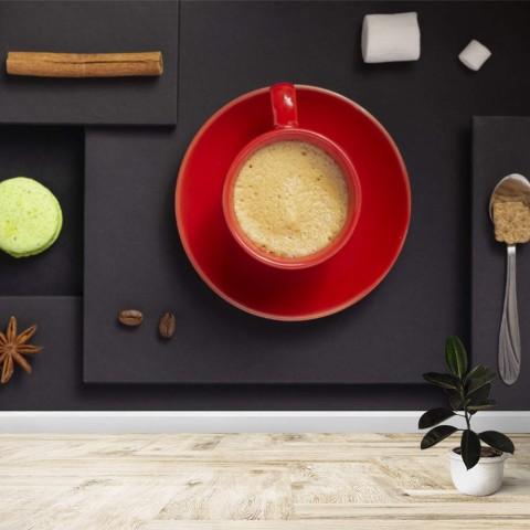 Fotomural - Taza de café roja