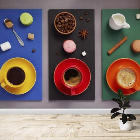 Fotomural - Café, café con leche y chocolate