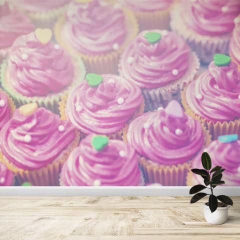 Fotomural - Cupcakes rosas