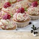 Fotomural - Cupcakes de vainilla con fresas