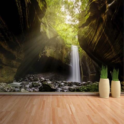 Fotomural - Cascada en cueva