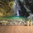 Fotomural - Cascada Kozjak en cueva Eslovenia